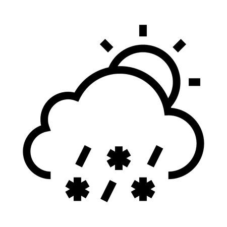 Cloud and sun Vector illustration.