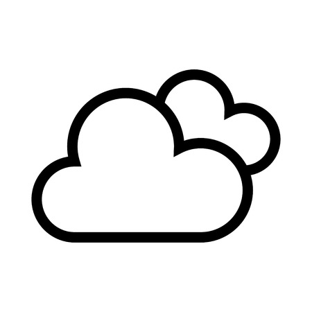 clouds icon Vector illustration isolated on white background. Illustration