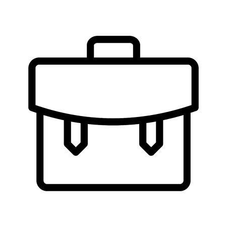 bag line icon Vectores