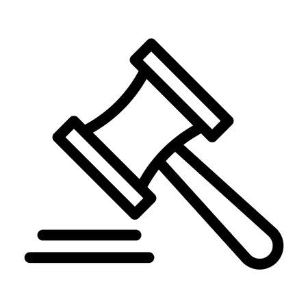 icône de ligne de juge Vecteurs