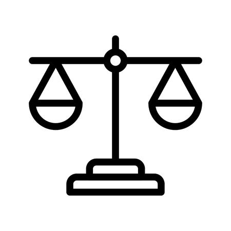 balance line icon Ilustrace