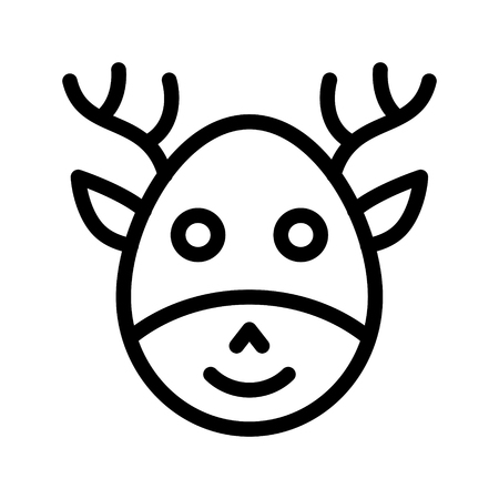 reindeer icon Illustration
