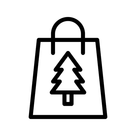 christmas shopping  icon Illustration