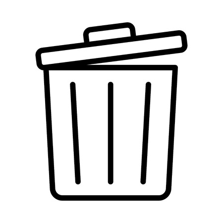 trash icon Illustration