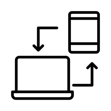 compartir datos Ilustración de vector