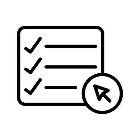lista de tareas Ilustración de vector