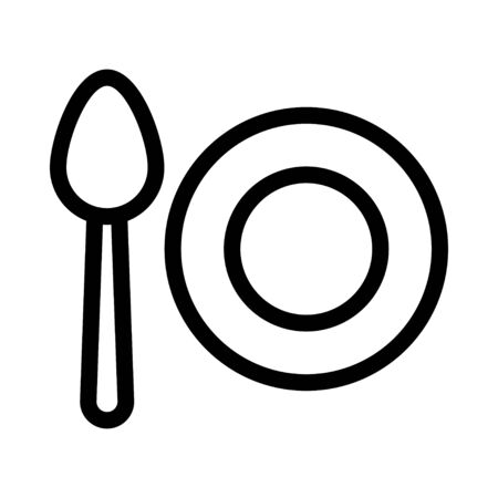 plate and spoon icon Stock fotó - 133487714