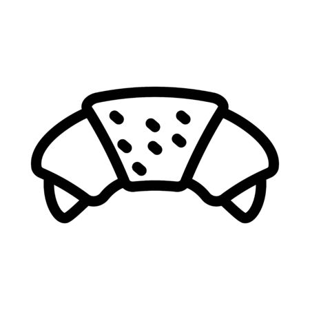 breakfast croissant icon Stock fotó - 133489010