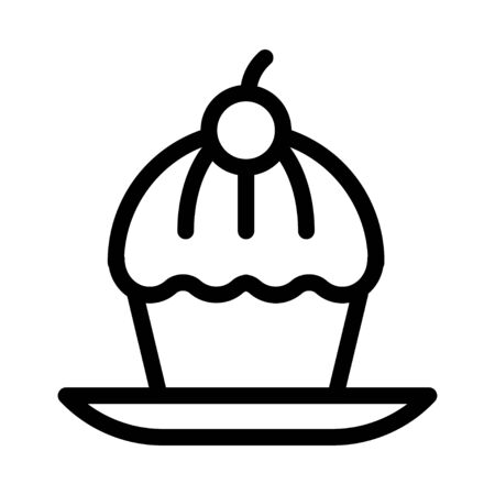 cup cake vector illustration