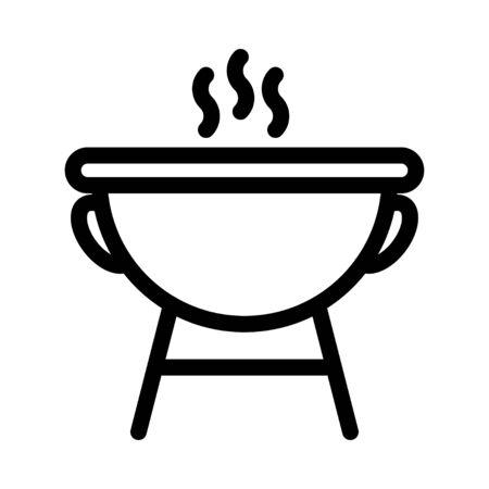 barbecue icon Illusztráció
