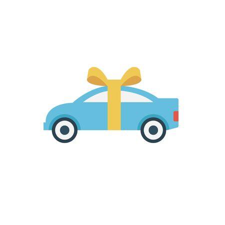 car gift vector illustration Foto de archivo - 138476965