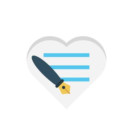 love letter vector illustration
