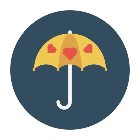 love umbrella vector illustration Ilustrace