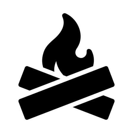bonfire icon for website design and desktop envelopment, development. Premium pack. Vetores