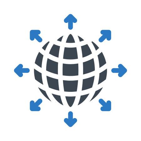 world icon for website design and desktop envelopment, development. Premium pack. Vektorgrafik