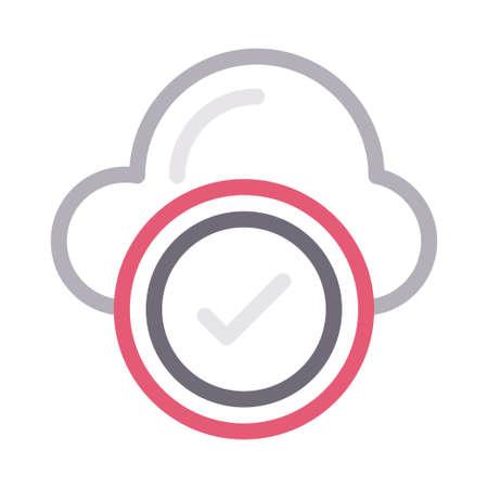 cloud check Ilustração