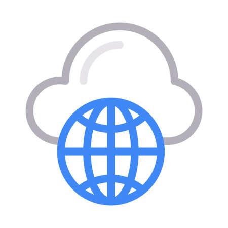 cloud global Ilustração