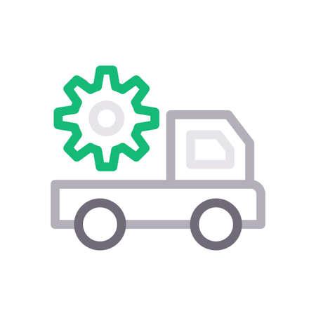 truck setting Vettoriali