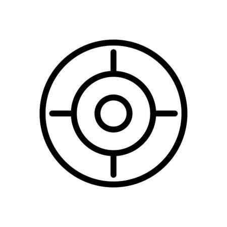target icon for website design and desktop envelopment, development. Premium pack. Ilustración de vector
