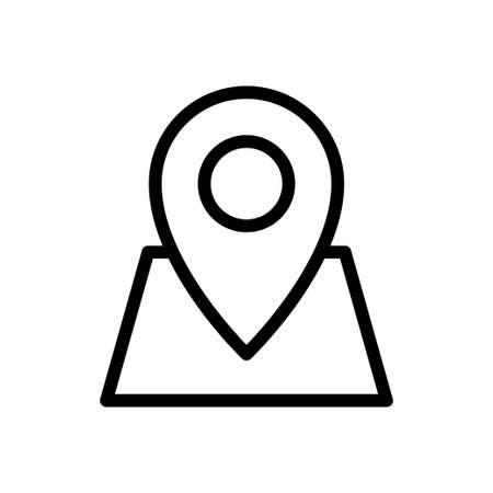 GPS pin Stock Illustratie