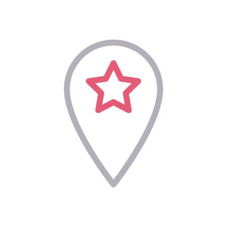 star pin Stock Illustratie