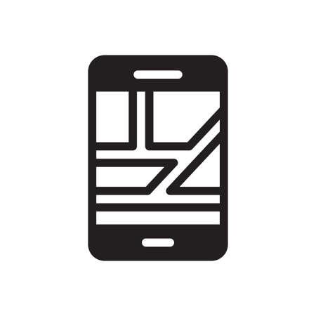 mobile  GPS Ilustração