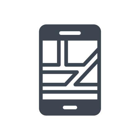 mobile map Ilustração