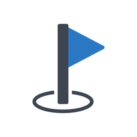 direction flag Ilustração
