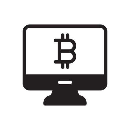 screen bitcoin Ilustração