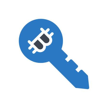 bitcoin key 向量圖像