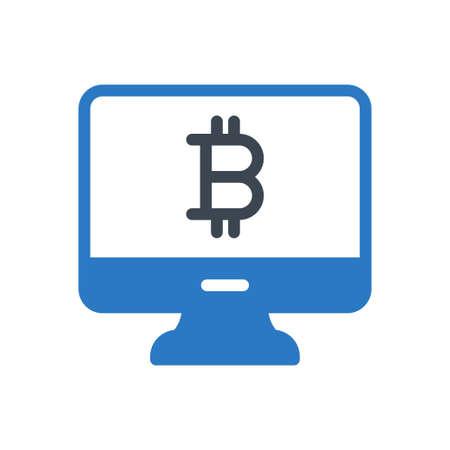 online  bitcoin Ilustração