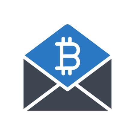 email bitcoin Ilustração