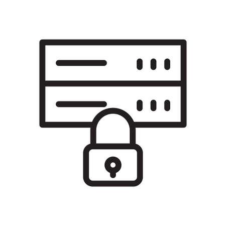 server lock Ilustração