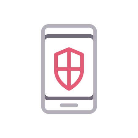 mobile shield 向量圖像