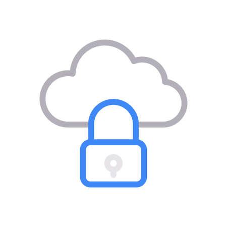 cloud lock 向量圖像