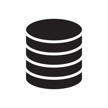 database icon for website design and desktop envelopment, development. Premium pack.