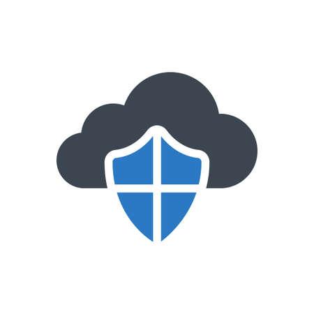 cloud shield 向量圖像