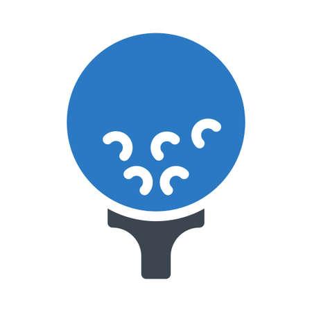 golf ball Ilustração