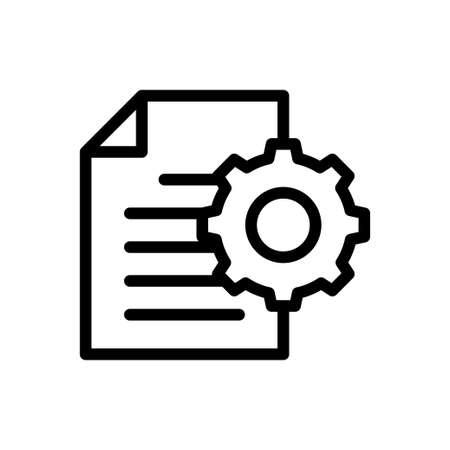 file setting Vektorové ilustrace