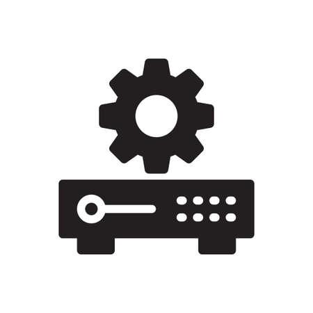 server setting 矢量图像