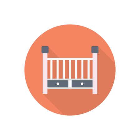 baby bed design illustration