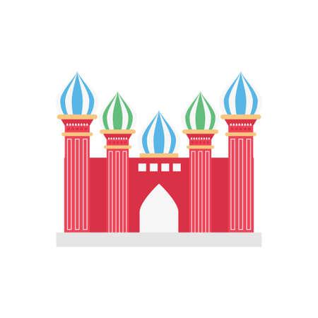 famous building icon design