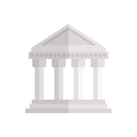 Athens building icon design