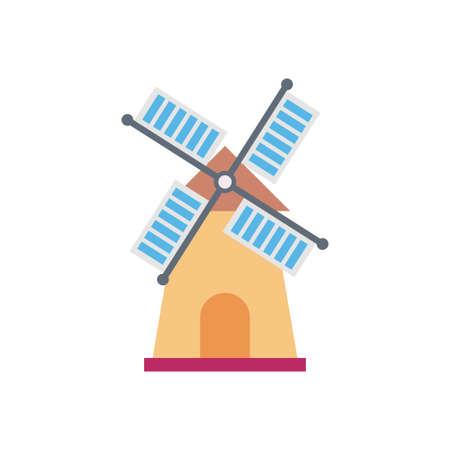 turbine  building icon design