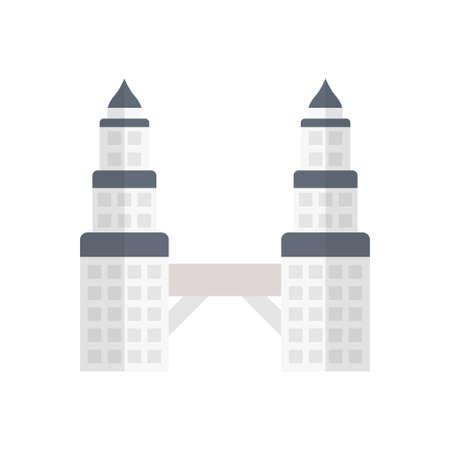 landmark icon design Vettoriali