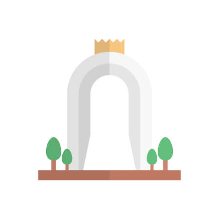 monument icon design Vettoriali