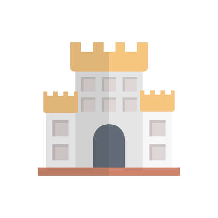 historical  famous building icon design Vettoriali