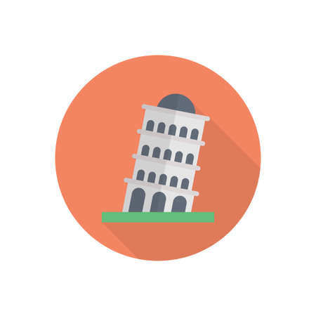 tower famous building icon design