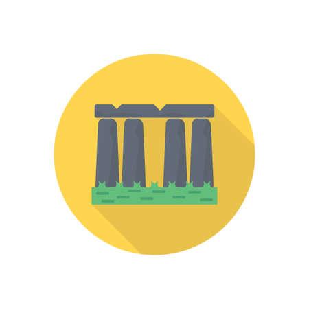 monument  famous building icon design