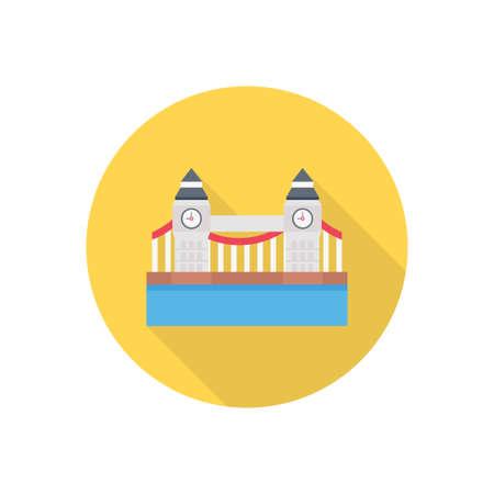 landmark icon design Illusztráció
